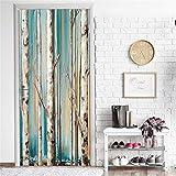 Bdhnmx 3D Door Murals Peel and Stick Deep Bamboo Forest Home Decor Bonsai Decor Murals Eco-friendly Waterproof Self Adhesive Wallpaper Removable Poster 77x200cm(30.3'X78.7')