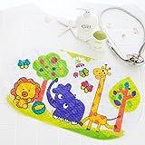 Eastery Esterilla Antideslizante para Ducha De Bañera con Ventosa para Niños Estilo Simple Zoo Colorido 15 X 27 Cm PVC Colorful Zoo 15 X 27 Pulgadas (Color : Elefant, Size : Size)
