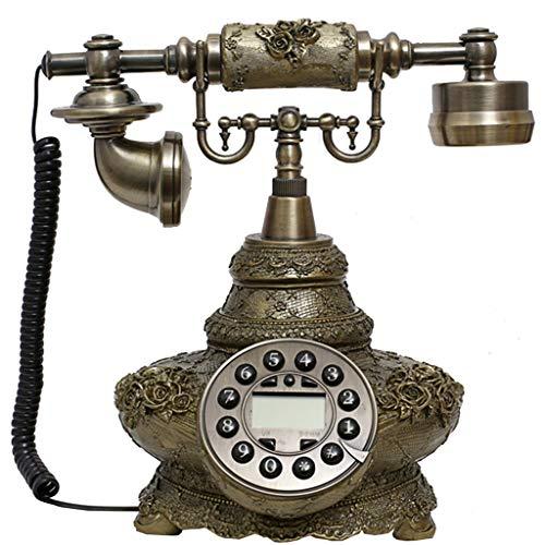 VERDELZ TeléFono Antiguo De Estilo Vintage,TeléFono Vintage BotóN Dial TeléFono Fijo Oficina DecoracióN De La Sala De Estar En Casa, Regalos Maravillosos