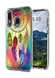 for Samsung A20 Case, Galaxy A30 Case, Dikoer 2 in 1 Heavy Duty Hybrid Clear Hard PC Cover + Soft Silicone Anti-Scratch Shockproof Premium Protective Phone Cases for Samsung A20/A30, Dream Catcher