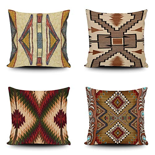 Set of 4 western pillow covers