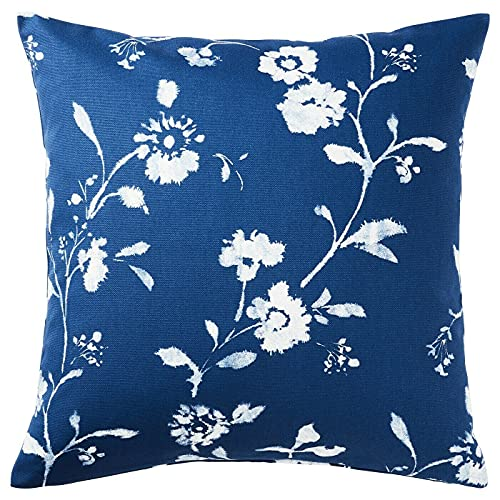 Nowa markowa poszewka na poduszkę BLAGRAN 50 x 50 cm niebieski biały kwiatowy nadruk 2 w 1 opakowaniu