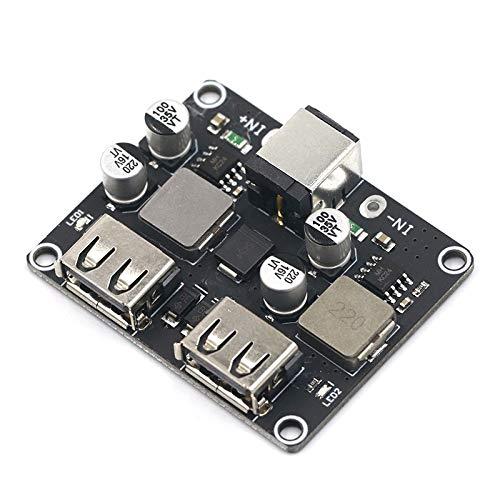 Módulo de fuente de alimentación Fast entrada del cargador Buck Módulo 6V- 30V solo puerto 24W Soporte QC2.0 QC3.0 QC 2.0 3.0 Junta Vehículo de doble 2 Doble USB Para el hogar, laboratorio, bricolaje.