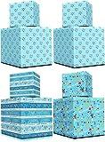 Happy Hanukkah Gift-Wrap Chanukah 17.5in. X 144in. Each (Happy Hanukkah 4 Roll Variety Pack)