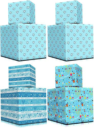 Happy Hanukkah Gift-Wrap Chanukah 17.5in. X 144in. Each (Happy Hanukkah 4 Roll Variety Pack)