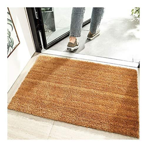 Bathroom mat Puerta Mats Antideslizante alfombras de Piso Interior y Exterior Área de alfombras Alfombras Mundo compradores Decorativo Fibra de Coco de cáscara de Coco de Goma (tamaño : 80X120cm)