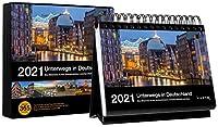 Tischkalender Unterwegs in Deutschland 2021: 366-Tage Spiralaufsteller in Geschenkbox