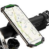 VUP Soporte Móvil Bicicleta, 360° Rotación Ajustable Soporte Móvil Moto para iPhone SE/11 Pro/X/XS/XR/8 Plus/7 Plus, Samsung Galaxy S10 P/S9/S8 P/S7 Edge, Huawei, Xiaomi/Redmi Telefono&GPS (4'-6.5')