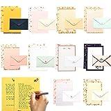 Papiers à Lettre,Papier à Lettre Ensemble,Papier à Lettres et Enveloppes,Enveloppes Papier a Lettre,Papier de Correspondance Ensemble,Lettre Enveloppe En Papier,Papeterie avec enveloppe (B)