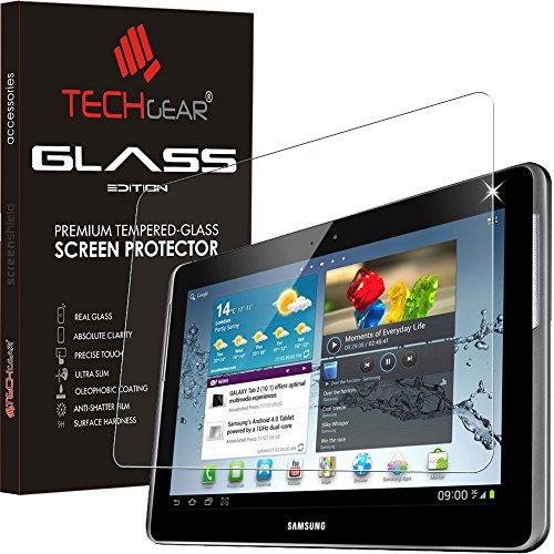 TECHGEAR Vetro Temperato Compatibile con Il Samsung Galaxy Note 10.1 Pollici - Autentica Pellicola protecttiva in Vetro Temperato per Samsung Galaxy Note 10.1 - Modelli: GT-N8000, GT-N8010, GT-N8020