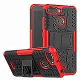 SPAK Xiaomi Redmi 6,Xiaomi Redmi 6A Custodia,PC + TPU Hybrid Armour Design Case Cover Caso Protettiva in Doppio Strato Copertina Rigida per Xiaomi Redmi 6,Xiaomi Redmi 6A (Rosso)