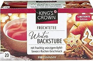 King`s Crown Tea: APPLE SPICY GINGERBREAD 20 tea bags Made in Germany