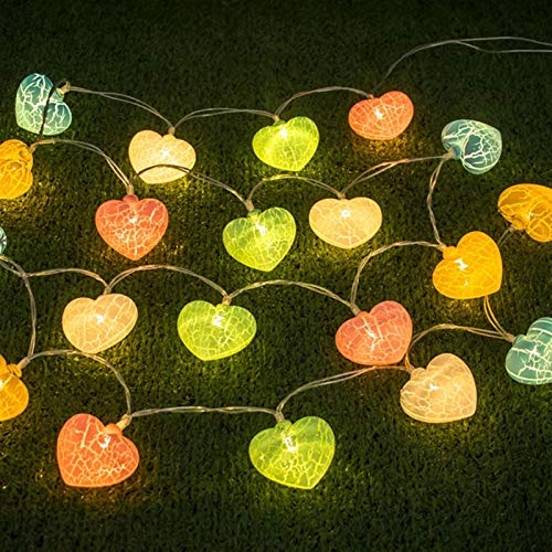 FTQ String Lights LED Christmas Light Crack Love Room Decoration, utdoor Outdoor Patio Lights Suitable for New Year And Christmas Flashing Lights