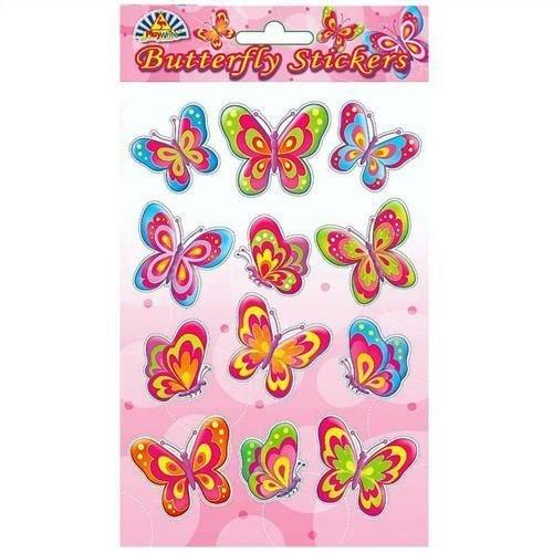 Lot de 12 stickers Papillon