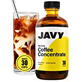 Javy Coffee Microdose 30X Liquid Coffee Concentrate, Artisan Roasted Cold Brew Coffee Arabica, Unsweetened Iced Coffee & Cold-Brew, Concentrated Cold Brew Coffee, Ice Coffee 6oz. Bottle, 30 Servings
