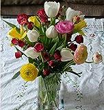 Peinture sur Toile Bricolage Peinture par numéros Cadeau de Vacances Adultes Fleurs Bouquet de Printemps
