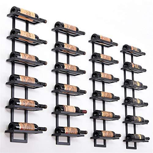 N\A Botellero para vino, 2 – 6 botellas de hierro, moderno soporte de pared, soporte para vino, soporte para vino, soporte de hierro, estilo plano/inclinado (color: 4 botellas de cobre)