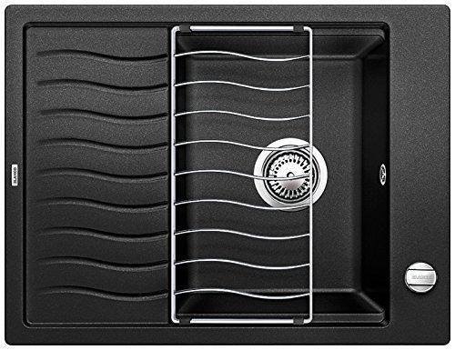 Blanco Elon 45 S, Küchenspüle, Granitspüle aus Silgranit PuraDur, 1 Stück, anthrazit-schwarz, 520989