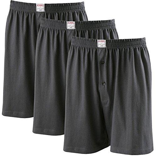 ADAMO Boxershorts James | Herren Boxershorts I Männer Shorts | Boxershorts Men | Shorts Herren I Herrenunterwäsche I 100{b797eb46e46a419b37fa83a17de5c63bfdb3f779da95aa2caf55b939d0dd8d53} Baumwolle 3er Pack in anthrazit Übergrößen 8-20 / XXL-8XL, Größe:16