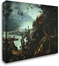 Landscape with The Temptation of Saint Anthony 24x20 Gallery Wrapped Stretched Canvas Art by Pieter The Elder Bruegel