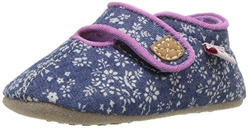 See Kai Run Baby-Girl's Cruz CRB Crib Shoe, Blue Flowers, S M US Infant