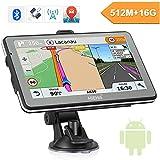 5' GPS Automatique de Voiture Moto , Hieha Android Système d'Operation , Appareil de Navigation Ecran HD Tactile, Intégrer Le Système des Instructions Vocales, Multi-Languages