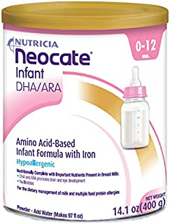 Neocate Infant With DHA/ARA, 14.1 Ounce / 400 Gram (4 cans)