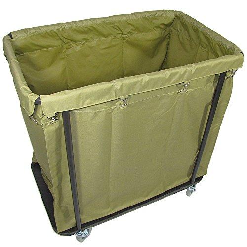 Crayata Laundry Cart, Extra Large Commercial Rolling Laundry Cart with 4 Inch Wheels, 10 Bushel...