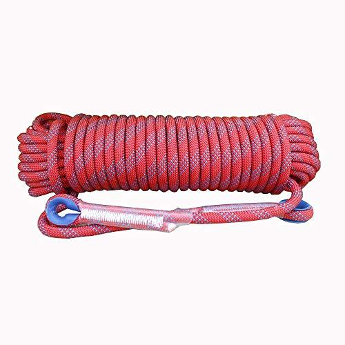Corde de sécurité multifonctionnelle Extérieur Escalade corde avec mousquetons Arbre matériel d'escalade Activités de plein air for 10MM 20MM (rouge) Heavy Duty Mountain Equipment pour Randonnée Alpin
