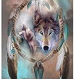 CaiHongPZZPanda para Adultos DIY Wolf In Wonderland Decoración para el hogar Pintura por números Set Paint by Numbers For Teens 40X50Cm-With Frame