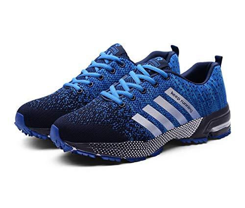 Goalsse Uomo Donna Scarpe da Ginnastica Sportive Running Fitness Sneakers Traspiranti Outdoor Respirabile Mesh Casual Sneakers (42 EU, Blu)