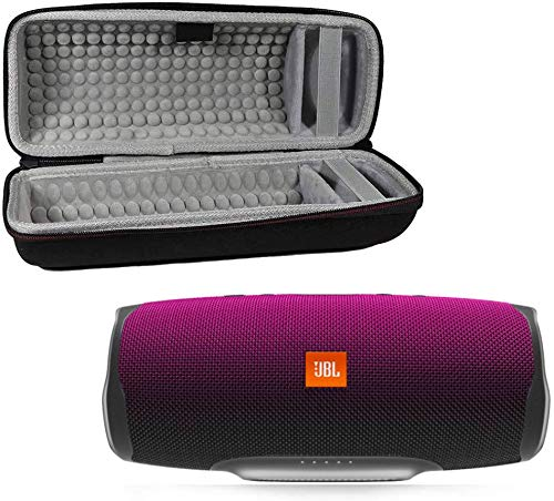 JBL Charge 4 Waterproof Wireless Bluetooth Speaker Bundle with Portable Hard Case - Magenta