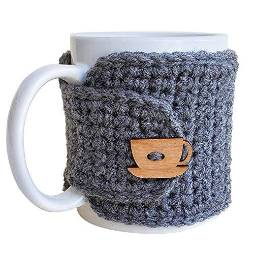crochet coffee cup cozy - 8