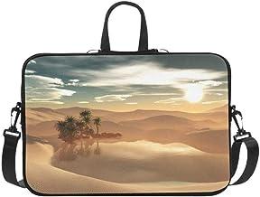 Oasis in The Desert Pattern Briefcase Laptop Bag Messenger Shoulder Work Bag Crossbody Handbag for Business Travelling