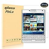 pinlu [2 Pack] Protector de Pantalla de Cristal para Blackberry Passport Silver Edition Protector Cristal Vidrio Templado para Blackberry Passport Silver Edition [9H/2.5D/0.26mm, 99% Transparente]