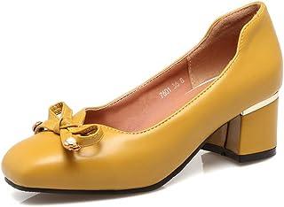 BalaMasa Womens APL12009 Pu Block Heels