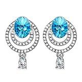 Kami Idea Donna Orecchini a Goccia a Buco The Big Blue Cristalli di Swarovski Regali per le madri...