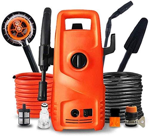 Hogedruk-wasmachine, met accessoires, met sluitring, 100 bar, inductiemotor, draagbaar, met accessoires, hogedrukreiniger, gering gewicht, autowasgoed voor huis en tuin