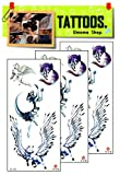 Umama Tattoos 3 Sheets Horse Unicorn Fox Wing Flying Angel Tattoos Fake Template 3D Horse Tattoo Removable Waterproof Temporary Tattoo Arm Leg Body Art Sticker for Men Women
