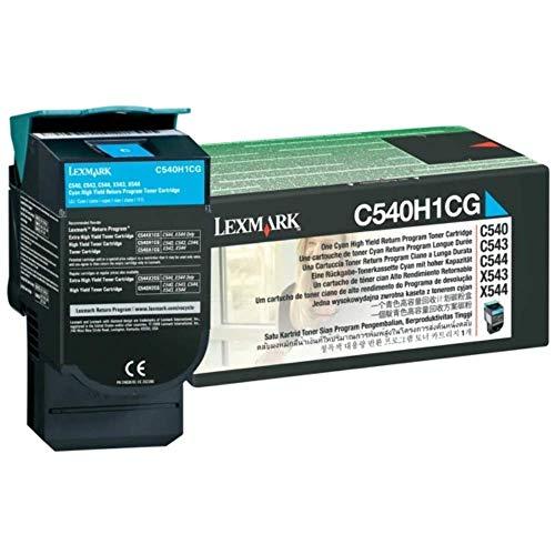 Lexmark C540H1CG C540, C543, C544, X543, X544 Tonerkartusche 2.000 Seiten Rückgabe, cyan