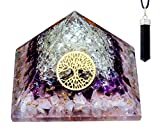 Orgone Pyramid Rose Amethyst Crystal Orgone Pyramid Energy Generator with Black Pen Orgonite Pyramid|Energy Crystal|Protection Crystal and Stone|Crystal Energy|Pyramid Kit|Orgone Kit|Orgone Energy