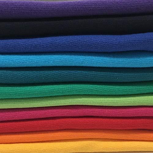 Bündchenstoff Starterset Mix-Paket Regenbogen Paket 1 mit 11 Farben (EUR 7,27 / Meter)