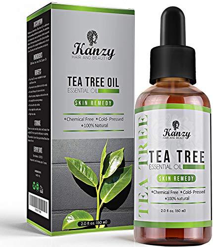 Kanzy Huile Essentielle Tea Tree Bio 60ml Naturelle Vegan Huile Arbre à Thé pour le Visage, Ongles et les Soins de la peau Huile