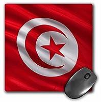 3drose LLC 8x 8x 0.25インチマウスパッドの国旗チュニジア(MP 174036_ 1)