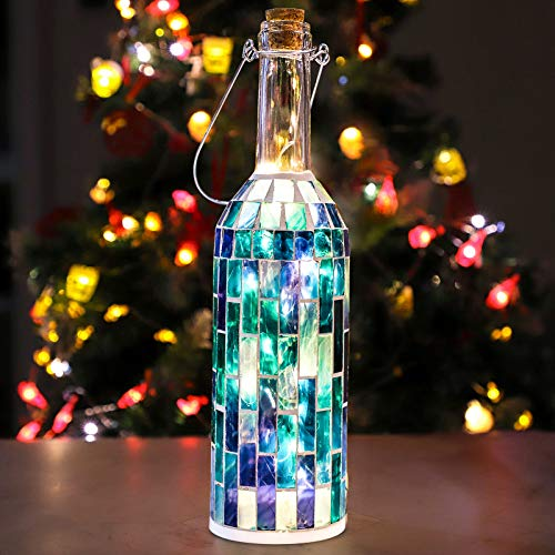 Holitown Wine Bottle Lights (Blue Strip), Decor Bottle Lights Powered by 2 AA Battery(Not Included), Decorative Lights for Party, Home Decor, Christmas, Halloween, Wedding, Bars(Warm White 1 Pack)