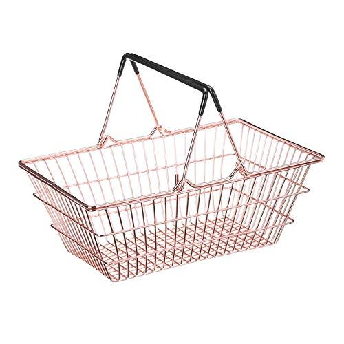 Jtoony Cesta de picnic Cesta de la compra de metal Supermercado Cesta de la compra Cesta de picnic