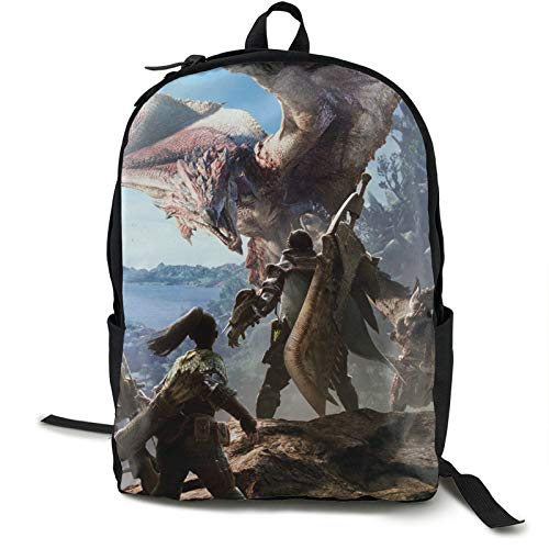 3,4 monster hunter Poka Poka Airou Village Ron Perlman Iceborne anime Computer Backpack Large capacity 2021.0 Men,Women,unisex,adult Outdoor sports,swimming mothers day present