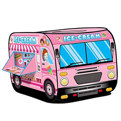 F Fityle Casa Plegable para Niños, Tienda de Campaña, Creativo, Divertido, Juego de Simulación, Camión Emergente, Interior, Exterior, Césped, Fiesta, Juguetes - Hielo Crema
