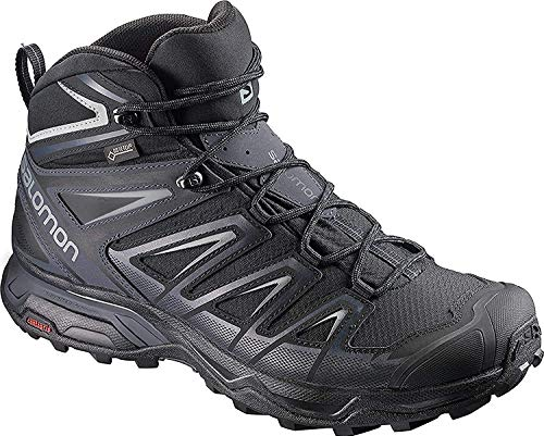 SALOMON Men's X Ultra 3 Mid GTX Climbing Shoes, Black India Ink Monument, 10.5 UK 45 1/3 EU