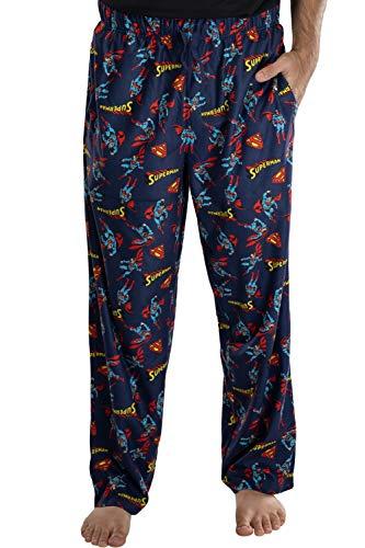 DC Comics Superman Hombre Todo Imprimir Loungewear Pajama Pants (Grande)